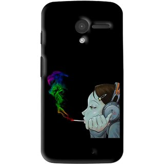 Snooky Printed Color Of Smoke Mobile Back Cover For Moto X - Multi