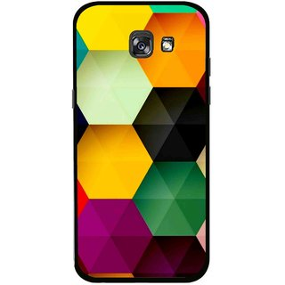 Snooky Printed Hexagon Mobile Back Cover For Samsung Galaxy A7 (2017) - Multicolour