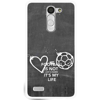 Snooky Printed Football Life Mobile Back Cover For Lg L Bello - Multi