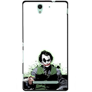 Snooky Printed Joker Mobile Back Cover For Sony Xperia C3 - Multicolour