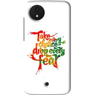 Snooky Printed Drop Fear Mobile Back Cover For Micromax Canvas Android One - Multi