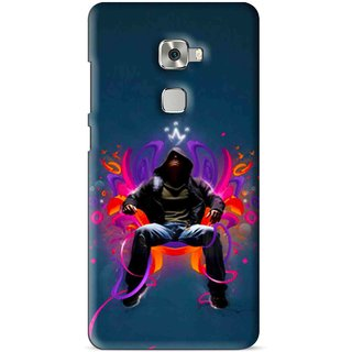 Snooky Printed Live In Attitude Mobile Back Cover For Huawei Mate S - Multi