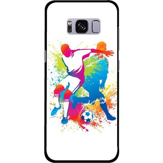 Snooky Printed Footbal Mania Mobile Back Cover For Samsung Galaxy S8 Plus - Multicolour