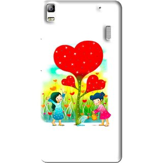 Snooky Printed Heart Plant Mobile Back Cover For Lenovo A7000 - Multi