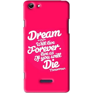 Snooky Printed Live the Life Mobile Back Cover For Micromax Canvas Selfie 3 Q348 - Multi