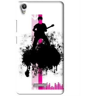 Snooky Printed Music In Air Mobile Back Cover For Lava Pixel V1 - Multi