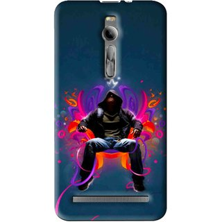 Snooky Printed Live In Attitude Mobile Back Cover For Asus Zenfone 2 - Multi