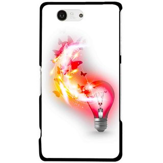Snooky Printed Butterly Bulb Mobile Back Cover For Sony Xperia Z3 Compact - Multicolour