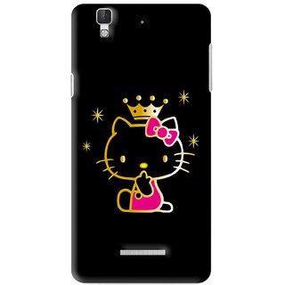 Snooky Printed Princess Kitty Mobile Back Cover For Micromax YU YUREKA - Multi