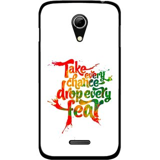 Snooky Printed Drop Fear Mobile Back Cover For Micromax A114 - Multicolour