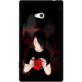 Snooky Printed Broken Heart Mobile Back Cover For Nokia Lumia 720 - Multicolour