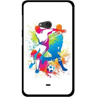 Snooky Printed Footbal Mania Mobile Back Cover For Nokia Lumia 625 - Multicolour