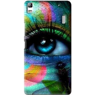 Snooky Printed Designer Eye Mobile Back Cover For Lenovo A7000 - Multi