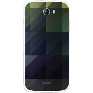 Snooky Printed Geomatric Shades Mobile Back Cover For Micromax Bolt A068 - Multicolour