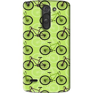 Snooky Printed Cycle Mobile Back Cover For Lg G3 Stylus - Multi