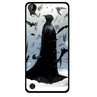 Snooky Printed Black Bats Mobile Back Cover For HTC Desire 630 - Multi