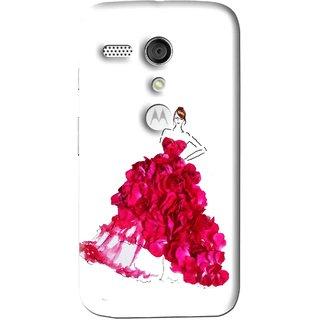 Snooky Printed Rose Girl Mobile Back Cover For Moto G - Multi