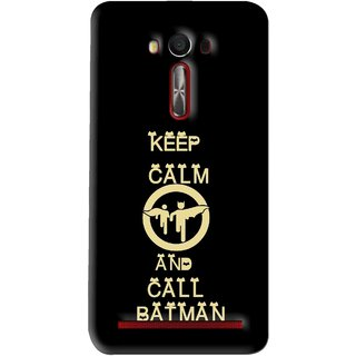Snooky Printed Keep Calm Mobile Back Cover For Asus Zenfone Laser - Multi