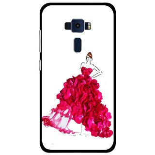 Snooky Printed Rose Girl Mobile Back Cover For Asus Zenfone 3 ZE520KL - Multi