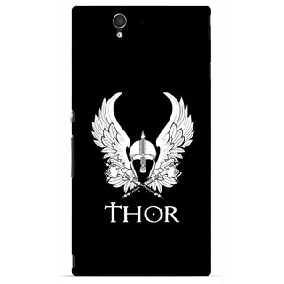 Snooky Printed The Thor Mobile Back Cover For Sony Xperia Z - Multicolour