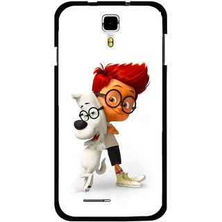 Snooky Printed My Friend Mobile Back Cover For Micromax Canvas Juice A177 - Multicolour
