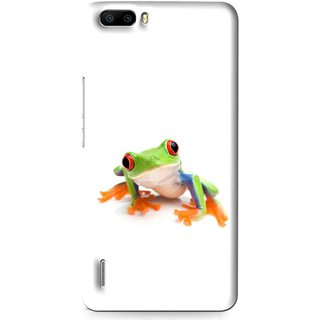 Snooky Printed Frog Mobile Back Cover For Huawei Honor 6 Plus - Multi