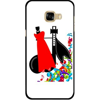 Snooky Printed Fashion Mobile Back Cover For Samsung Galaxy C7 - Multicolour