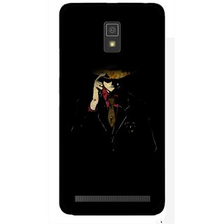 Snooky Printed Cow Bow Mobile Back Cover For Lenovo A6600 - Multicolour