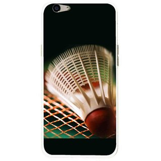 Snooky Printed Badminton Mobile Back Cover For Oppo F1s - Multi