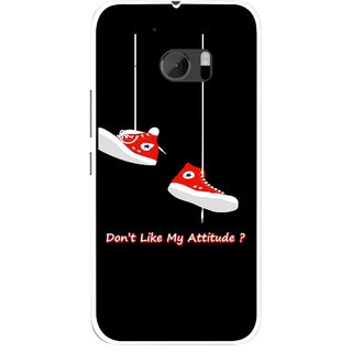 Snooky Printed Attitude Mobile Back Cover For HTC One M10 - Multicolour