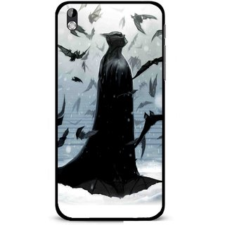 Snooky Printed Black Bats Mobile Back Cover For HTC Desire 816 - Multi