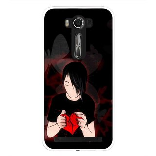 Snooky Printed Broken Heart Mobile Back Cover For Asus Zenfone 2 Laser ZE500KL - Multi