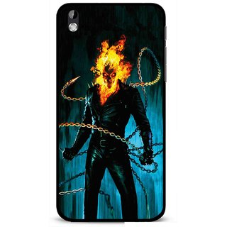Snooky Printed Ghost Rider Mobile Back Cover For HTC Desire 816 - Multi