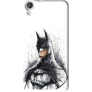 Snooky Printed Angry Batman Mobile Back Cover For HTC Desire 820 - Multi
