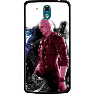 Snooky Printed Fighter Boy Mobile Back Cover For HTC Desire 326G - Multicolour