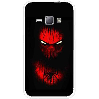 Snooky Printed Spider Eye Mobile Back Cover For Samsung Galaxy J1 - Multicolour