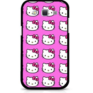 Snooky Printed Pink Kitty Mobile Back Cover For Samsung Galaxy 8552 - Multicolour