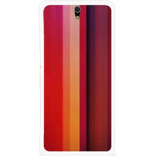 Snooky Printed Colorfull Stripes Mobile Back Cover For Sony Xperia C5 - Multicolour