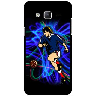 Snooky Printed Football Passion Mobile Back Cover For Samsung Galaxy On7 - Multicolour