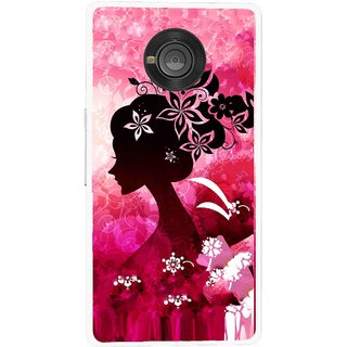 Snooky Printed Pink Lady Mobile Back Cover For Micromax Yu Yuphoria - Multicolour