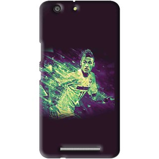 Snooky Printed Running Boy Mobile Back Cover For Gionee Marathon M5 - Multi
