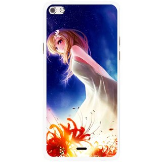 Snooky Printed Angel Girl Mobile Back Cover For Micromax Canvas Sliver 5 Q450 - Multi
