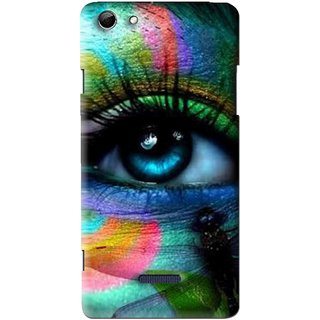 Snooky Printed Designer Eye Mobile Back Cover For Micromax Canvas Selfie 3 Q348 - Multi