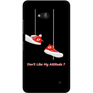 Snooky Printed Attitude Mobile Back Cover For Nokia Lumia 640 - Multicolour