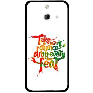 Snooky Printed Drop Fear Mobile Back Cover For HTC One E8 - Multicolour