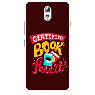 Snooky Printed Reads Books Mobile Back Cover For Lenovo Vibe P1M - Multicolour