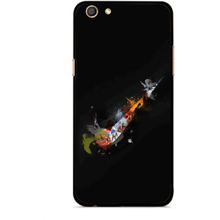 Snooky Printed All is Right Mobile Back Cover For Oppo F3 - Multi