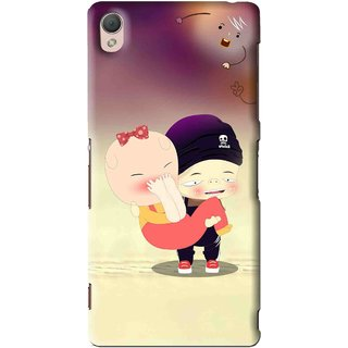 Snooky Printed Friendship Mobile Back Cover For Sony Xperia Z3 - Multi