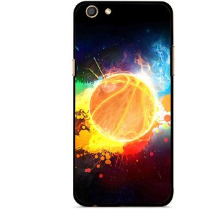 Snooky Printed Paint Globe Mobile Back Cover For Oppo F3 - Multi