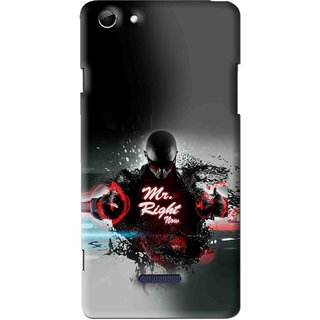 Snooky Printed Mr.Right Mobile Back Cover For Micromax Canvas Selfie 3 Q348 - Multi